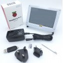 Raspberry Pi 3 Kit with 5-inch touchscreen LCD w/ acryllic enclosure and accessories