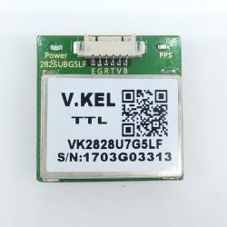 Compact GPS + Glonass + Galileo module with embedded High sensitivity antenna TTL NMEA0803