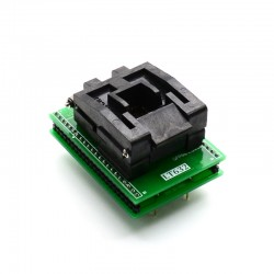 QFP44 to DIP44 ZIF socket adapter