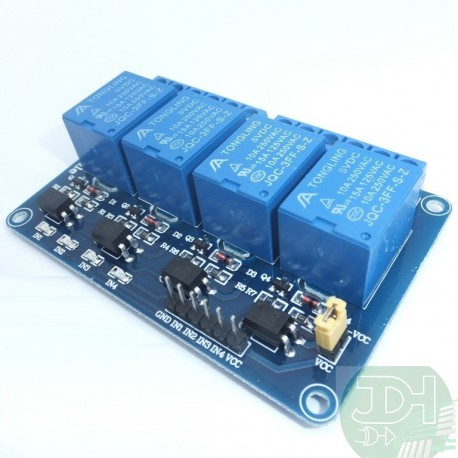4 relays module isolated by optocoupler