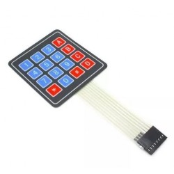 4x4 matrix membrane keypad -- 16 keys