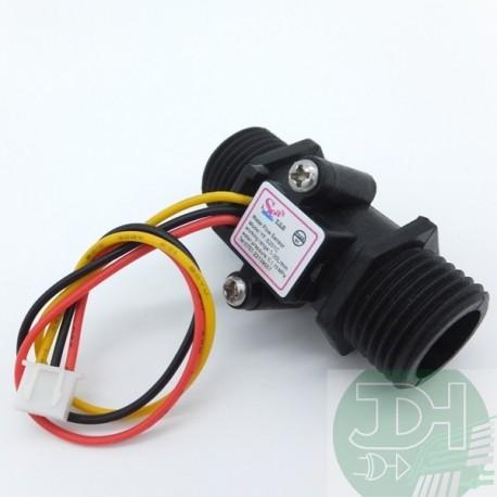 Liquid flow sensor flowmeter 1 to 30 liters/min G 1/2 inch